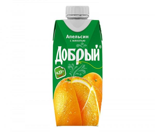 Բնական հյութ «Добрый» 0.33լ