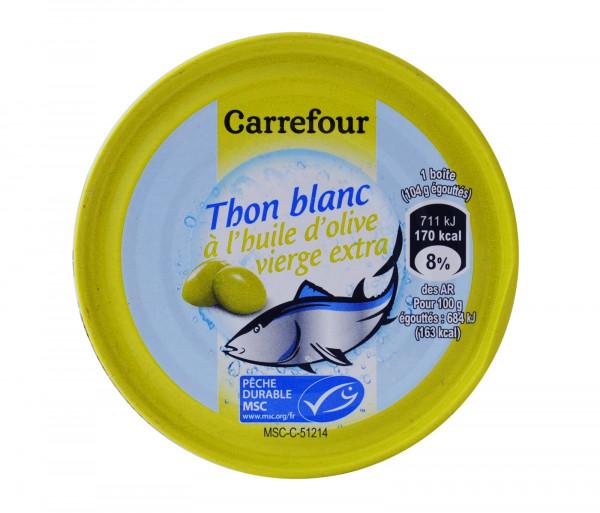 Քարֆուր Սպիտակ Թունա Ձիթապտղի ձեթով 160գ
