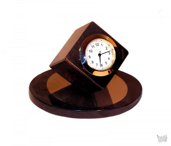 Սեղանի ժամացույց օբսիդիան «Խորանարդ» մագնիսով